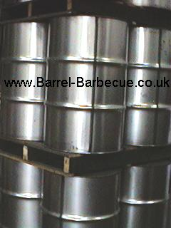 brand new drums for our deluxe barrel barbecue